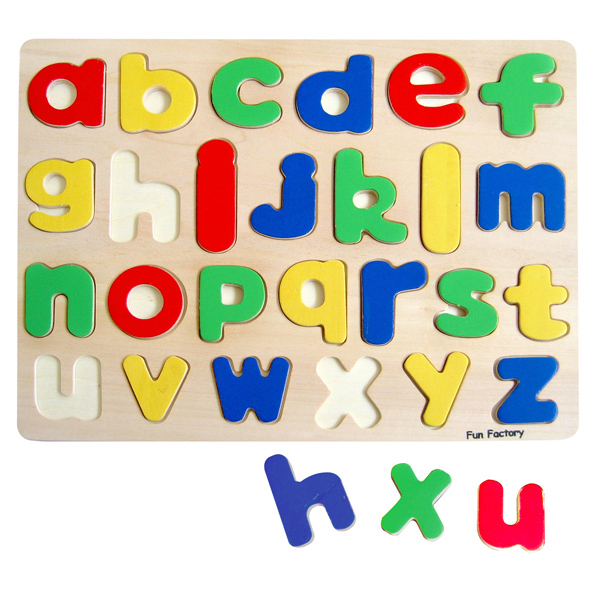 squoodles ltd lower case alphabet letters wooden With letter puzzle for kids