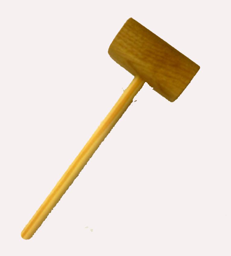Hammering in tacks