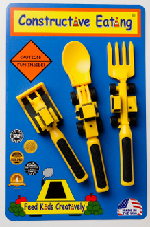 3 Piece Kids Cutlery Construction set