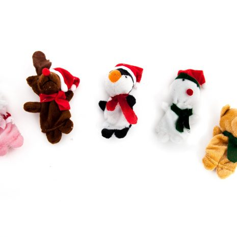 christmas finger puppet separate