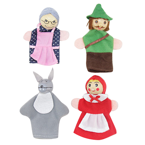 little red riding hood finger puppets finger puppets set of 4 7815