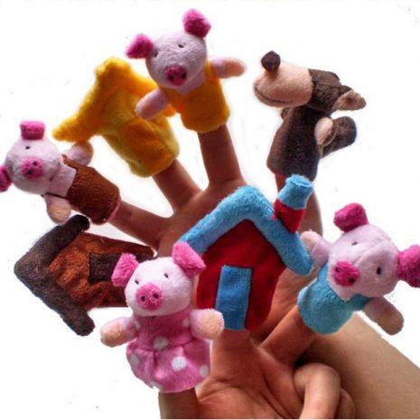 3 Little Pigs Finger Puppets