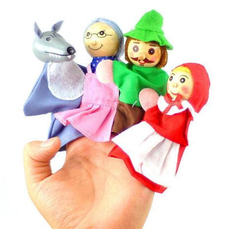 red riding hood finger puppets