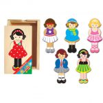 Dress Up Girl - wooden puzzles for kids