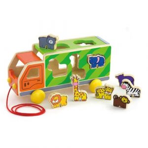 Wooden Zoo Animal Truck & Shape Sorter