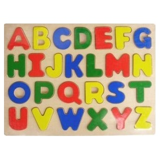 Upper case alphabet puzzle