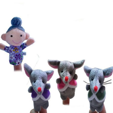 3 blind mice finger puppets