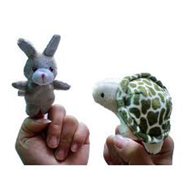 Hare and Tortoise Finger Puppets