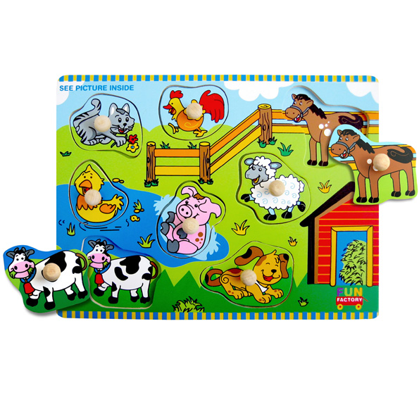 Wooden Farm House Knob Jigsaw Puzzle
