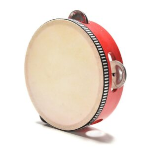 Red Wooden Tambourine Drum