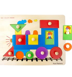 Wooden Train Knob Jigsaw Puzzle