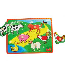 Farm Animals Knob Jigsaw puzzle