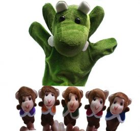 Five Little Monkeys & Mr Crocodile Puppets