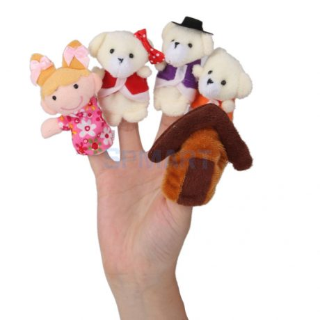 Goldilocks and the Three Bears Finger Puppets