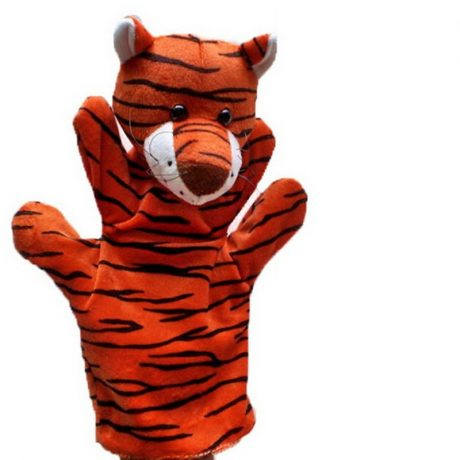 Tiger hand puppets