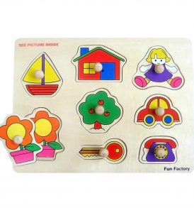 Wooden Baby's First Knob Jigsaw Puzzle