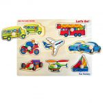 Wooden Lets Go Knob Jigsaw Puzzle