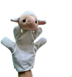 Sheep hand puppets