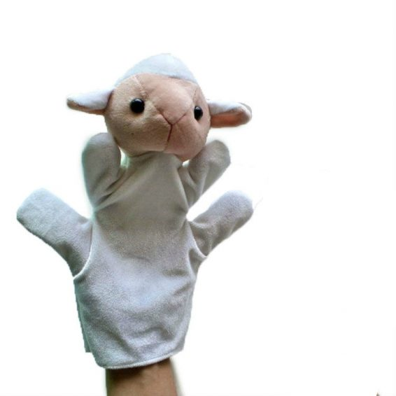 Sheep hand puppets