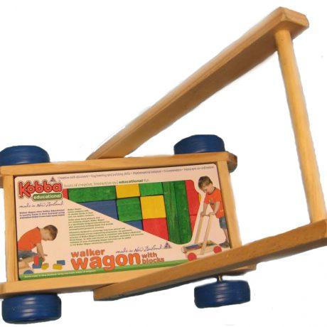 Wooden Walker Wagon with blocks – NZ Made