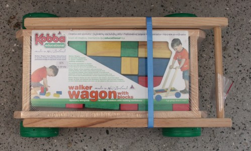 wooden walker wagon – unassembled