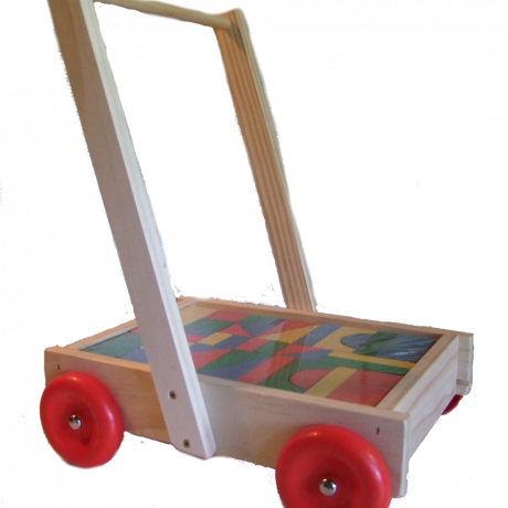 Wooden Walker Wagon with blocks – NZ Made