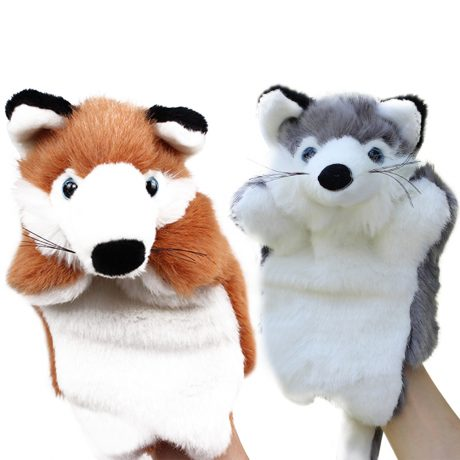 Fox Hand Puppet – Brown and Grey