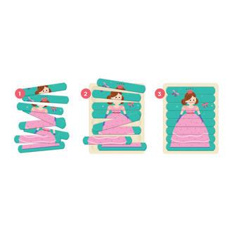 Wooden Enchanting Princess Puzzle Sticks