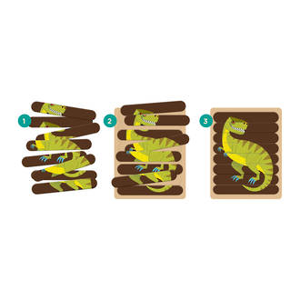 Wooden Mighty Dino Puzzle Sticks