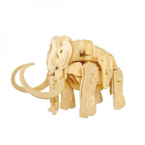 Mammoth Sound Activated Walking Wooden 3D Puzzle