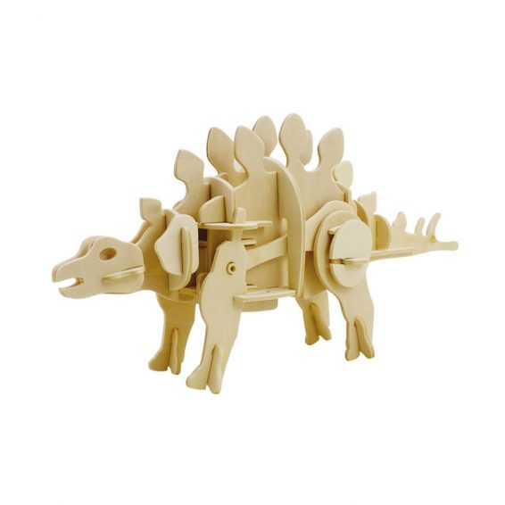 Stegasaurus Sound Activated Walking Wooden 3D Puzzle