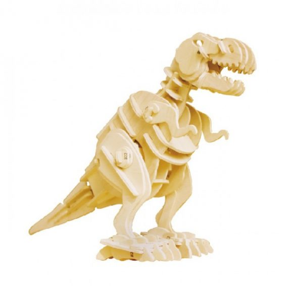 T-Rex Sound Activated Walking Roaring Wooden 3D Puzzle