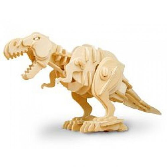 T-Rex Sound Activated Biting Roaring Wooden 3D Puzzle
