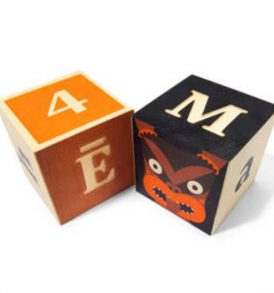 Wooden Maori Alphabet blocks