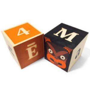 Wooden Maori Alphabet blocks