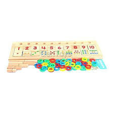 wooden count and match numbers