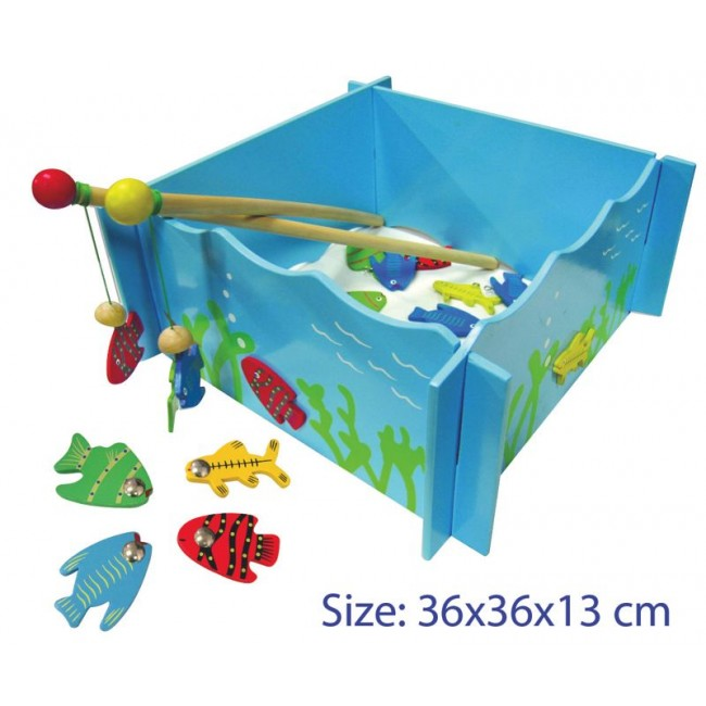 Wooden magnetic fishing game squoodles ltd for Fishing games 2017