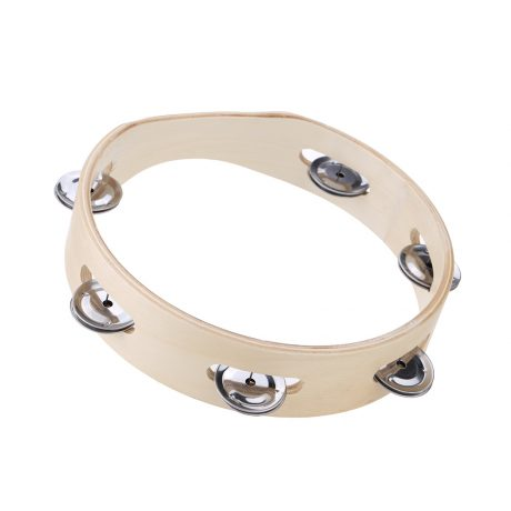 natural wooden tambourine 20cm