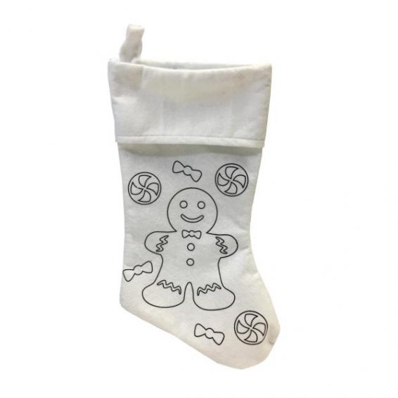 Colour-In Christmas Stocking