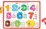 Wooden knob puzzles numbers