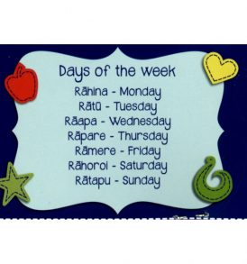 Magnetic Maori days of the week