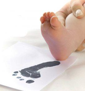Baby Ink Hand/Footprint Inkless Printing kits in Bold Black