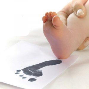 Baby Ink Hand/Footprint Inkless Printing kits in Bold Black