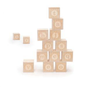 Wooden Alpha-Blanks Lowercase Alphabet