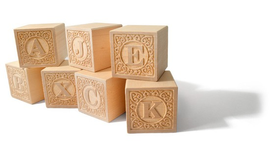 Wooden Alpha-Blanks Uppercase Alphabet