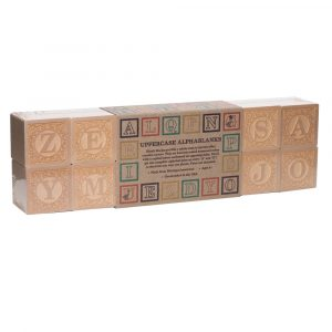 Wooden Alphabet and Number Blocks Bundle 3 Pack