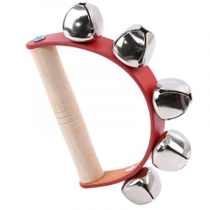 Wooden Handheld Sleigh Rattle