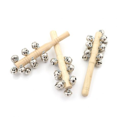 Natural Wooden Jingle Bell Rattle