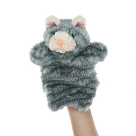 Grey Tabby Cat Hand Puppets