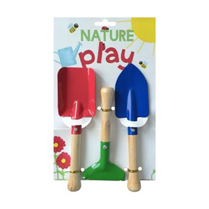 natures play gardening 3pc tool set